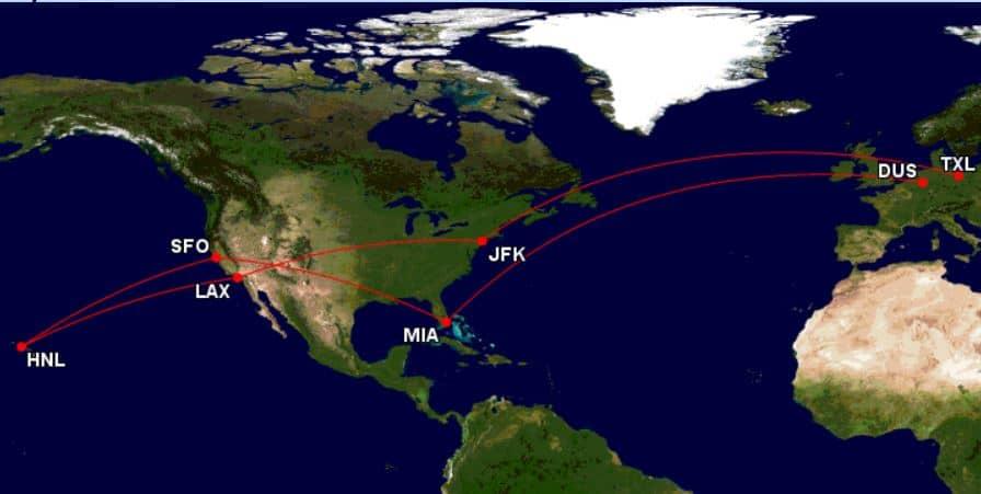 Great_Circle_Mapper_TXL-JFK-LAX-HNL-SFO-MIA-DUS