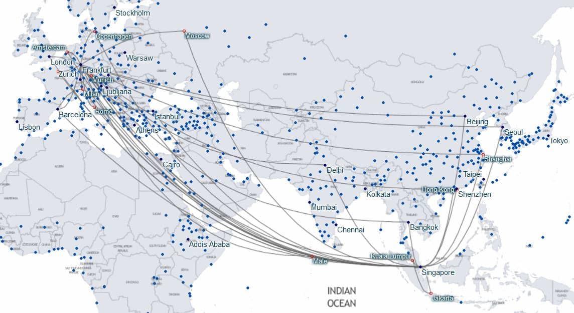 Flugrouten Karte.Flugrouten Finden Mit Der Oneworld Und Star Alliance Karte