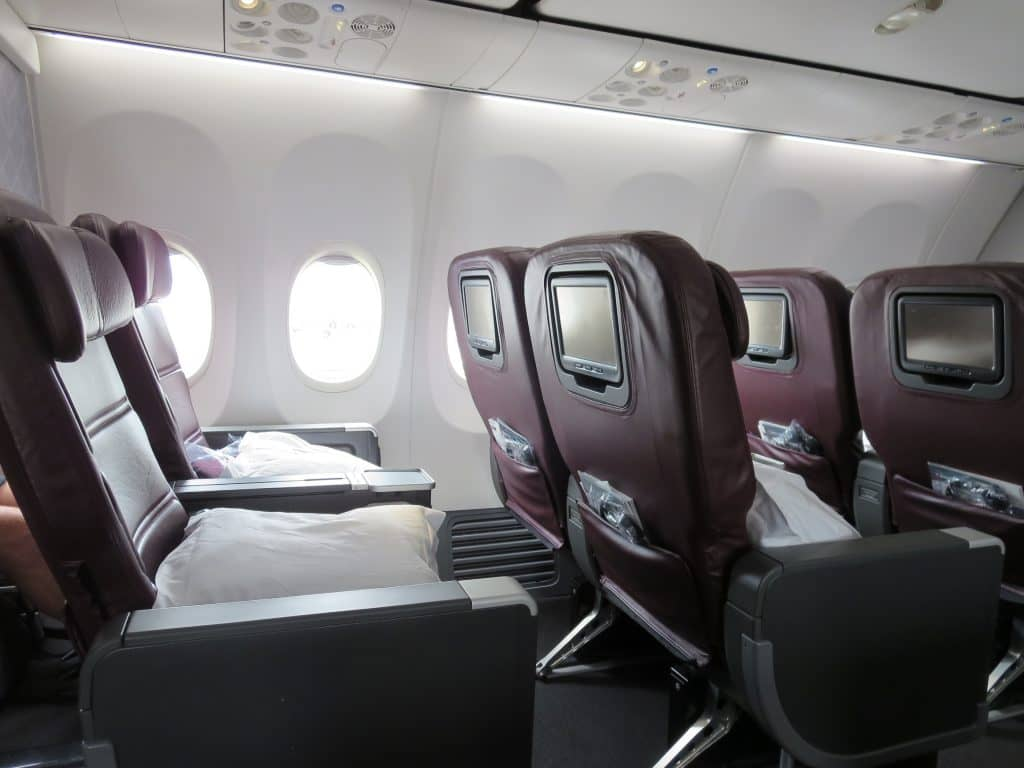 Qantas Business Class an Bord der Boeing 737-800
