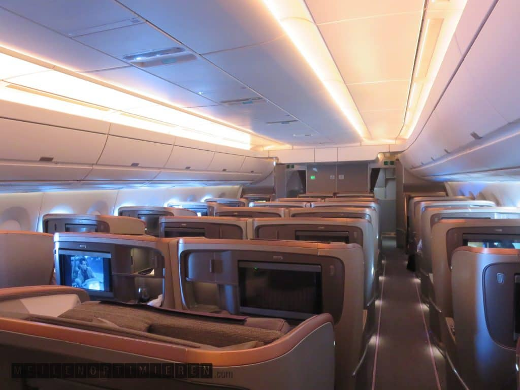 Singapore Airlines Business Class Airbus A350-900 Cabin