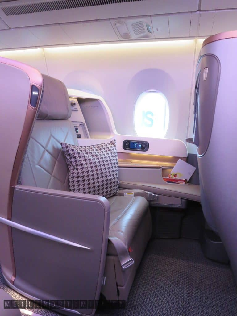 Singapore Airlines Business Class Airbus A350-900 Seat