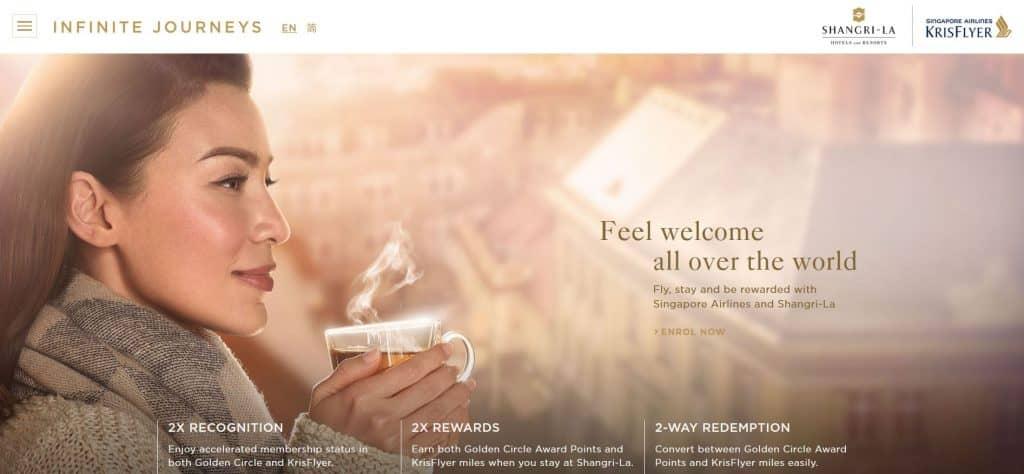 Infinite Journeys nennt sich die Kooperation von Singapore Airlines KrisFlyer und Shangri-La Golden Circle welche den Star Alliance Gold Status mit nur 3 Flügen ermöglicht