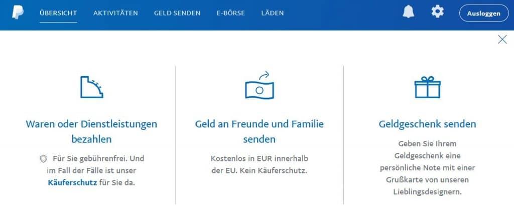 Mit PayPal Geld an Freunde und Familie senden und Meilen sammeln © paypal.com