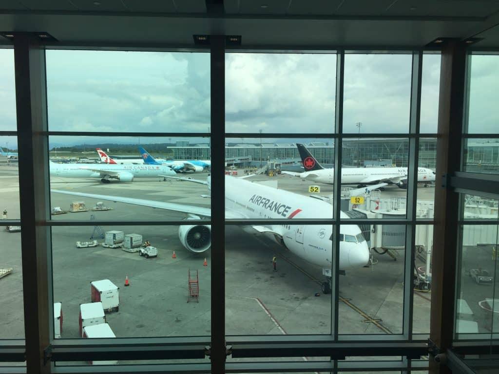 Air France Flugzeug am Flughafen Toronto