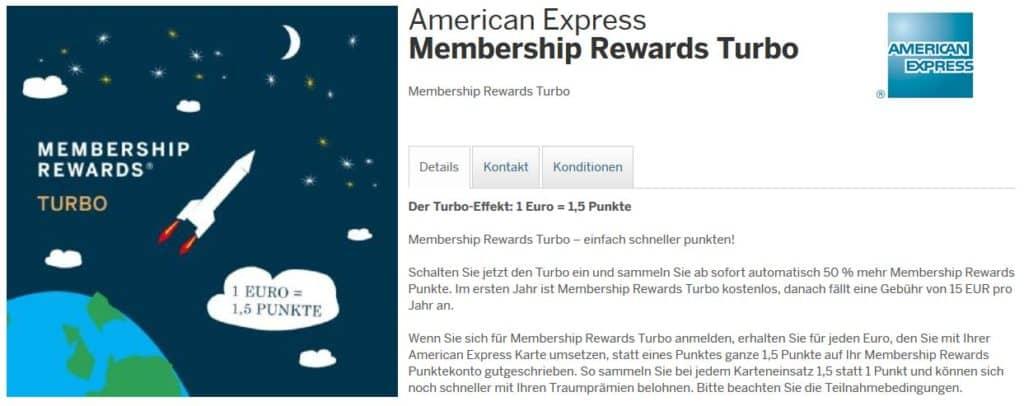 Membership Rewards Turbo für die American Express Kreditkarten in Österreich © American Express Österreich