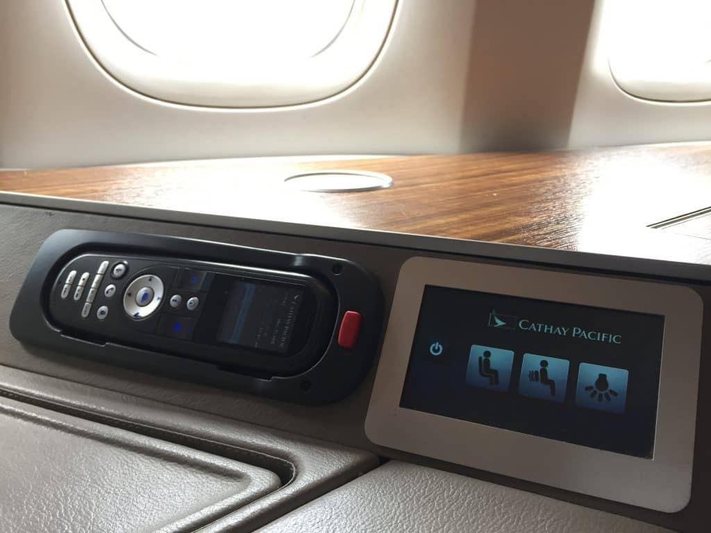 Cathay Pacific First Class Bedienelemente