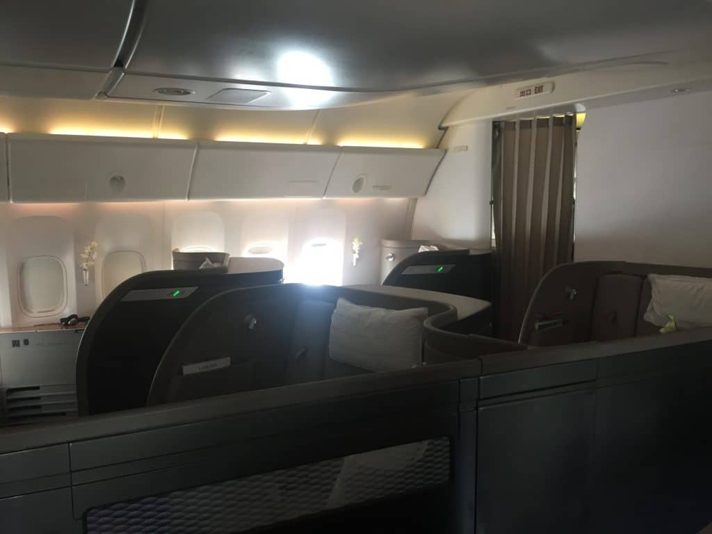 Cathay Pacific First Class Kabine