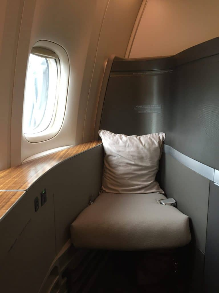 Cathay Pacific First Class Ottomane