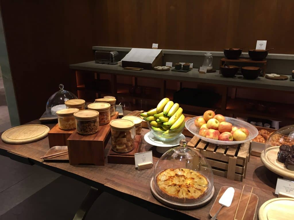 "Cathay Pacific First Class Lounge The Pier ""The Pantry"" Buffet"