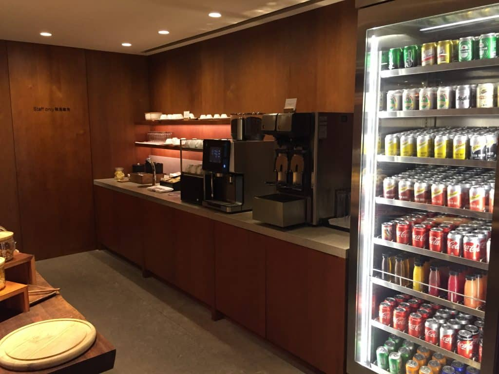 "Cathay Pacific First Class Lounge The Pier ""The Pantry"""
