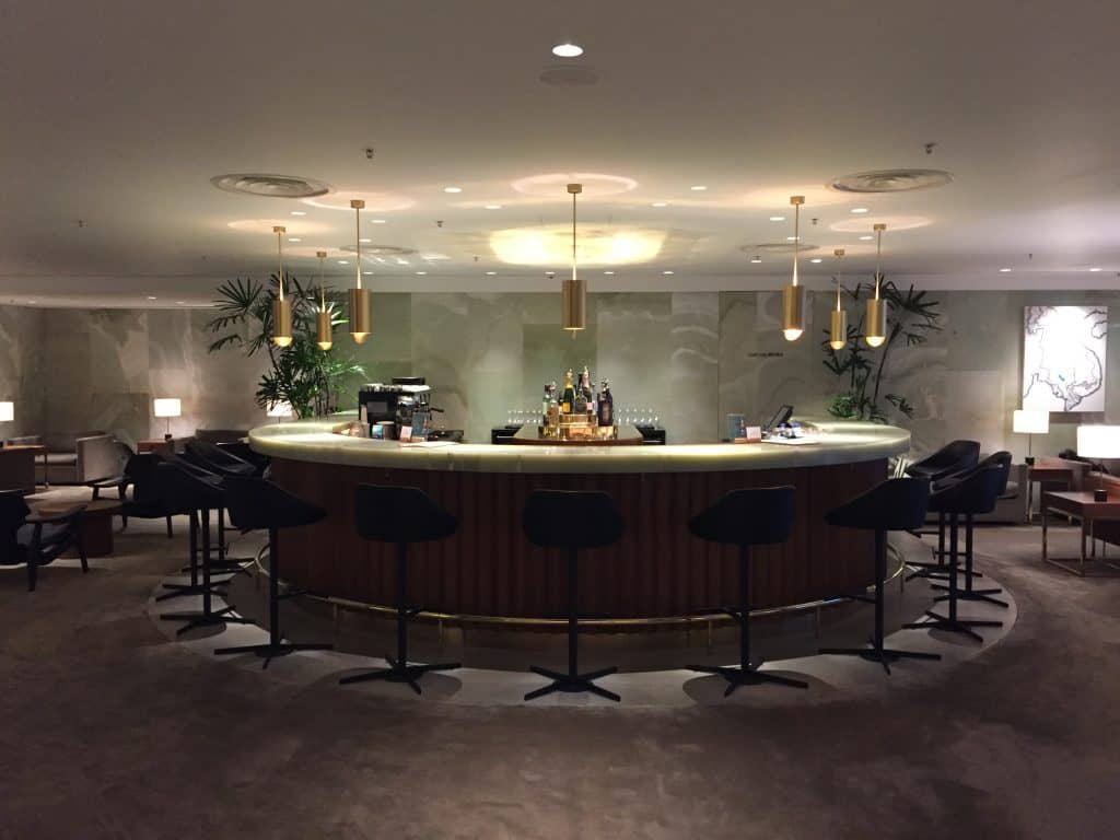 Cathay Pacific First Class Lounge The Pier Bar