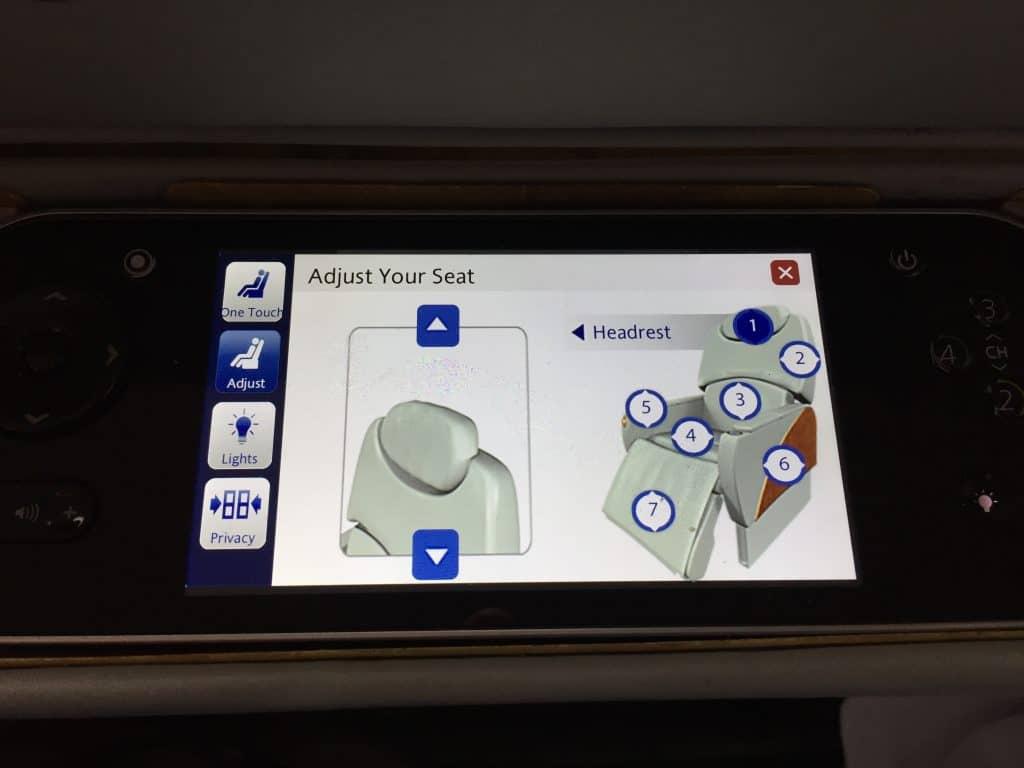 Der Emirates First Class Sitz lässt sich individuell einstellen