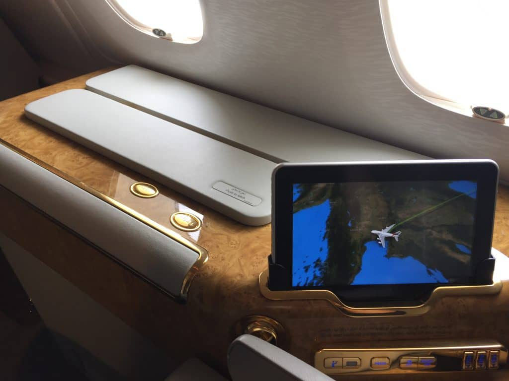 Emirates First Class Tablet