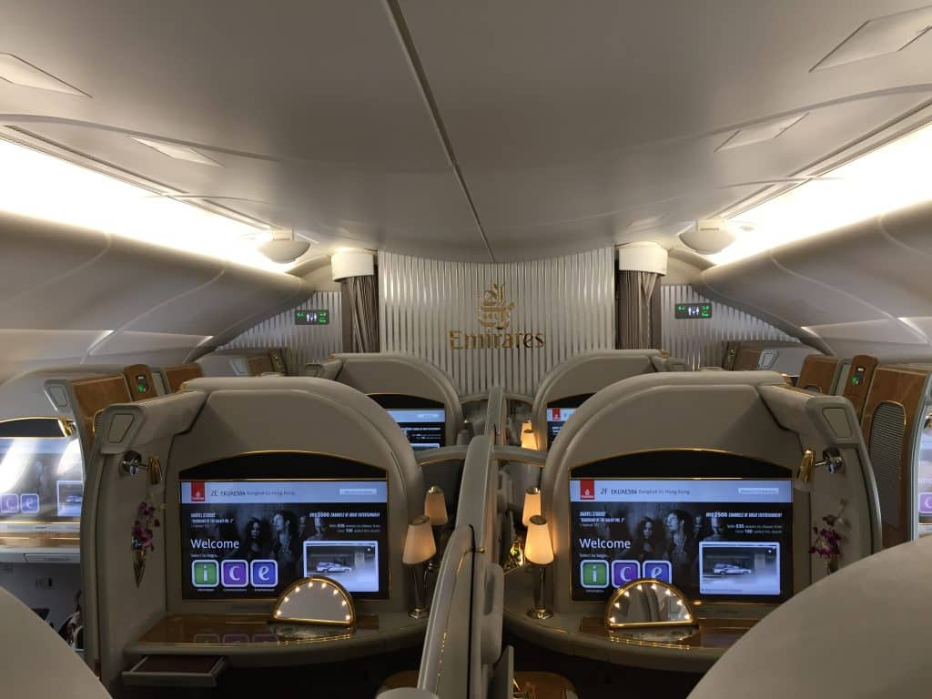 Emirates First Class Kabine an Bord des A380