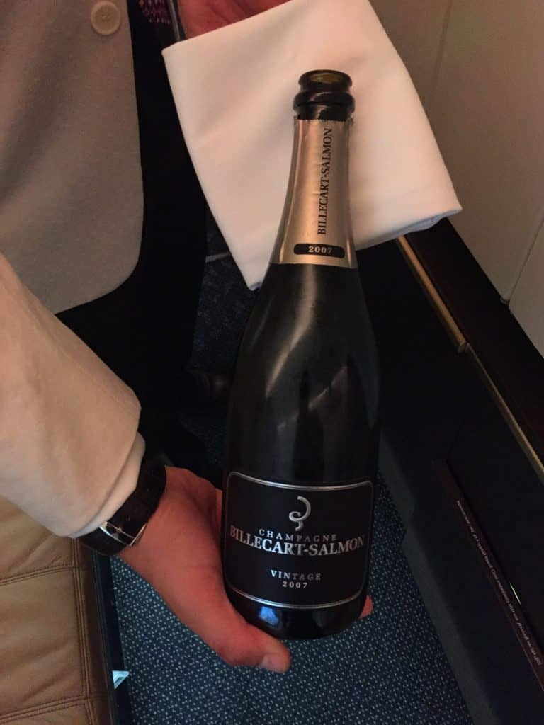 Etihad First Class Champagner