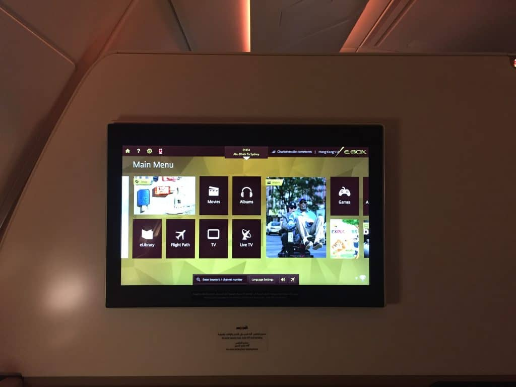 Etihad Entertainment System