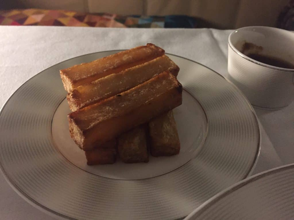 Etihad First Class Apartment Hauptgang: Pommes