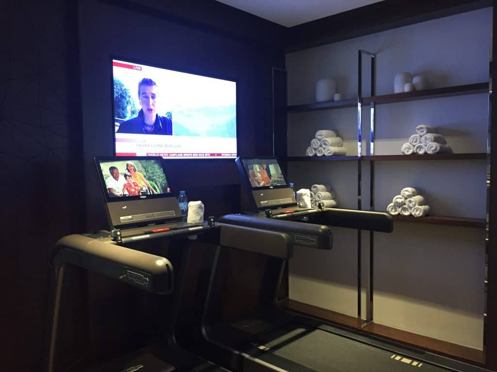 Etihad First Class Lounge Fitnessstudio