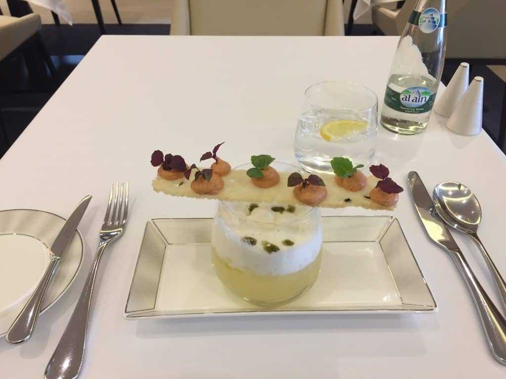 Etihad First Class Lounge A la Carte Restaurant Tomatensuppe