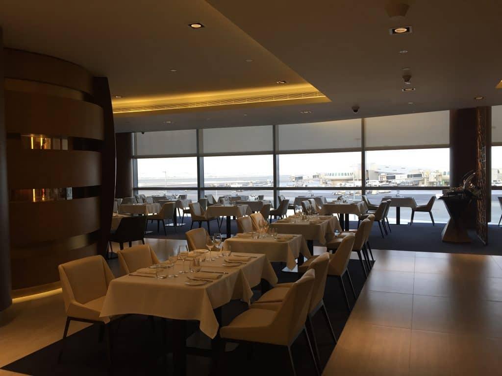 Etihad First Class Lounge A la Carte Restaurant