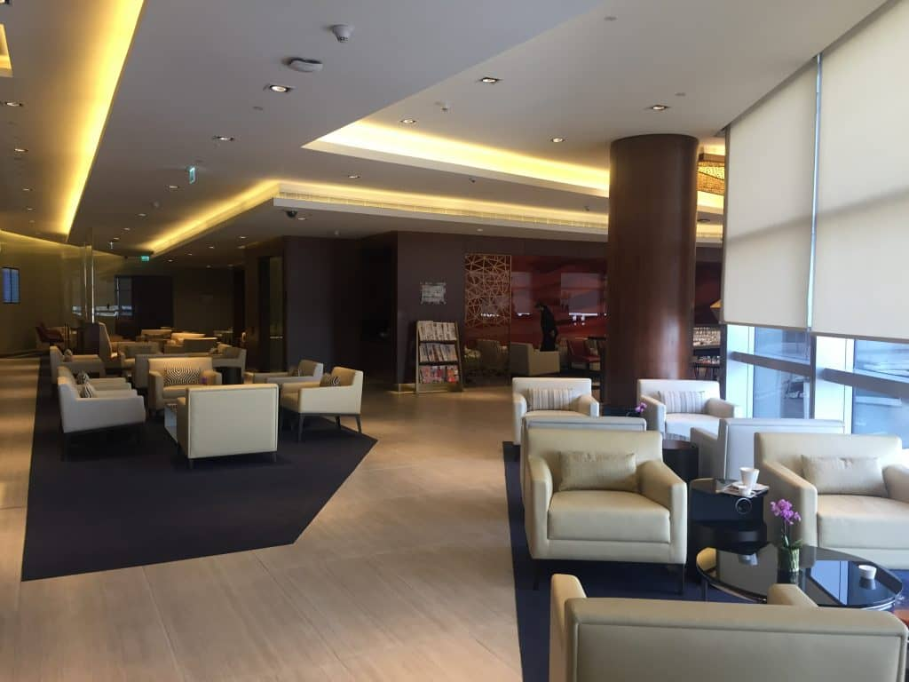 Etihad First Class Lounge Sitzgelegenheiten