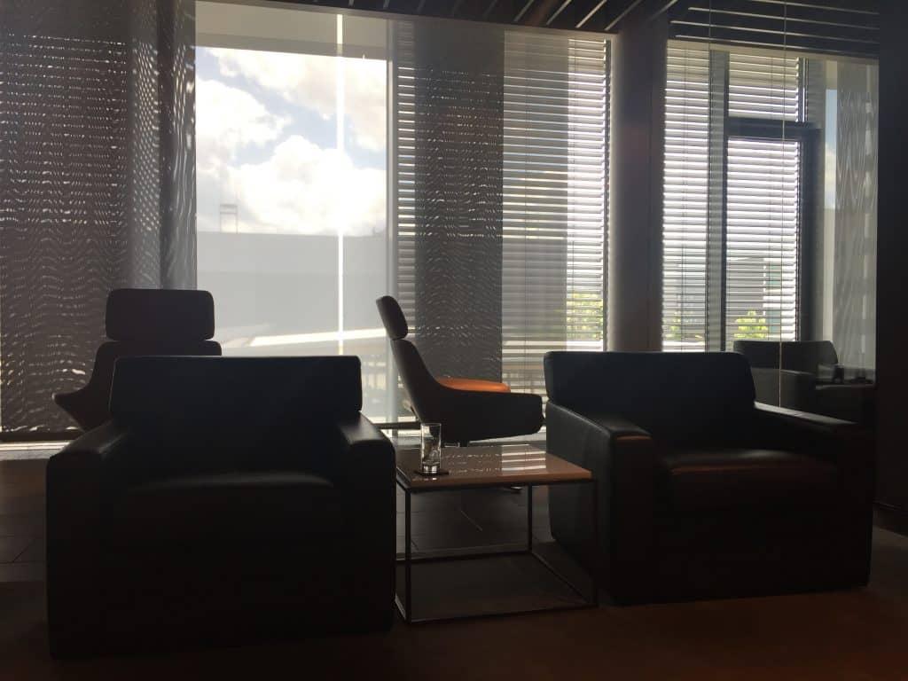 Lufthansa First Class Terminal Sitzgelegenheiten