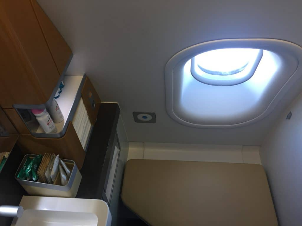 Lufthansa First Class Bad an Bord des A330