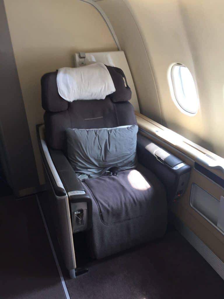 Lufthansa First Class Sitz