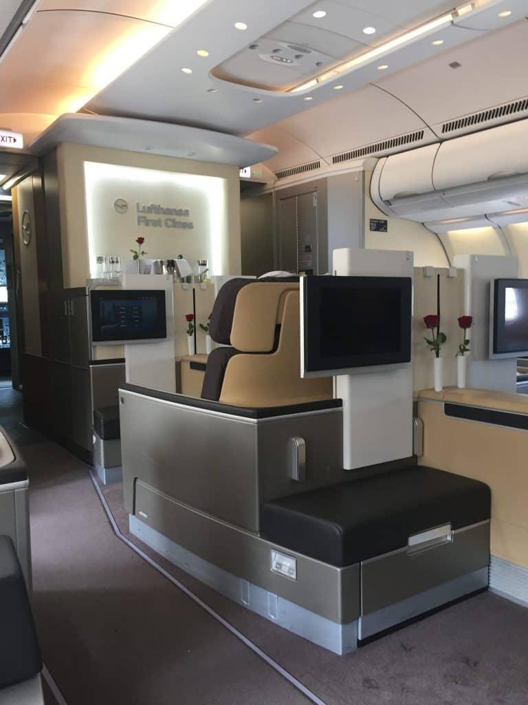 Lufthansa First Class Kabine an Bord des A330