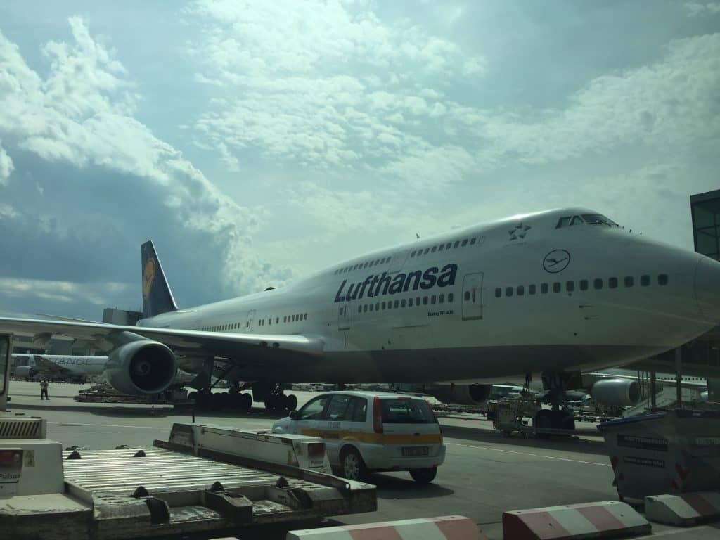 Blick während der Fahrt mit dem Lufthansa Limousinen Service