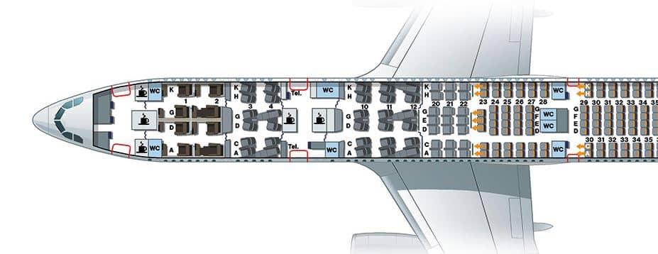 Sitzplan Lufthansa A330 © lufthansa.de