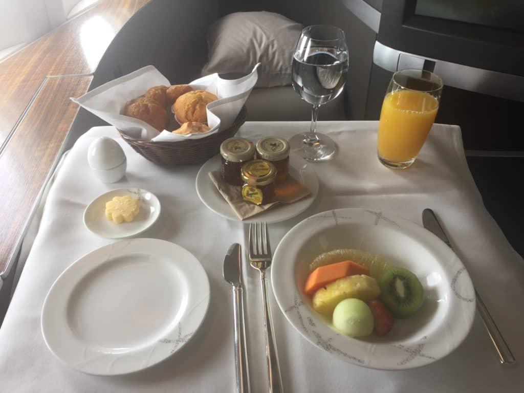 Cathay Pacific First Class Frühstück