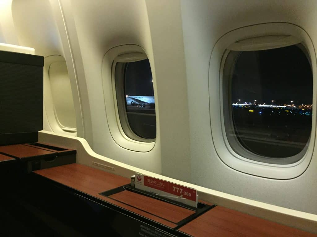 Japan Airlines First Class Suite Fensterfront