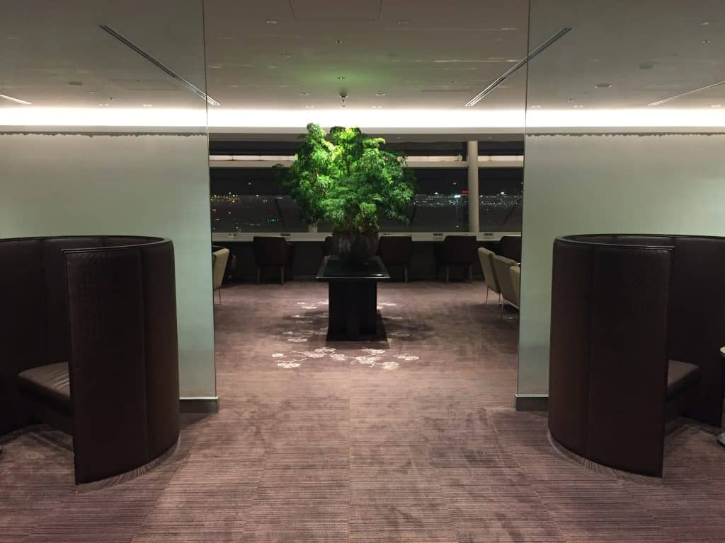 Japan Airlines First Class Lounge Tokio Haneda Eingang