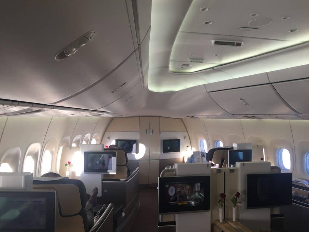 Die Lufthansa First Class Boeing 747-8 Kabine