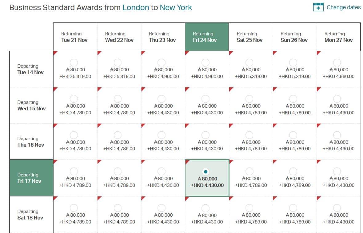 BA Prämienflüge lassen sich online suchen und buchen. Sucht ihr zum  Beispiel nach Business Class Flügen von London nach New York, erhaltet ihr  folgende ...