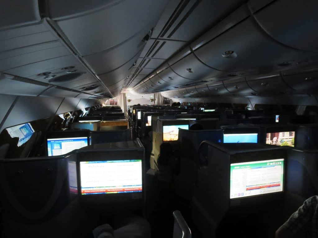 Emirates Business Class im A380