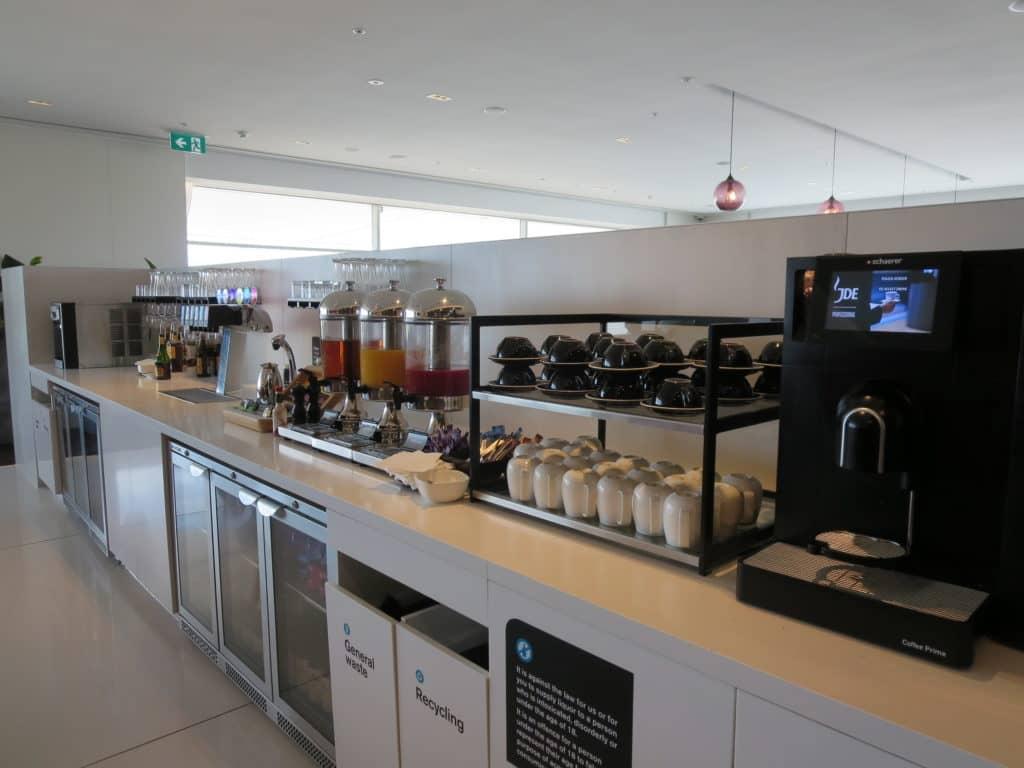 Air New Zealand Sydney International Lounge Getränkeauswahl