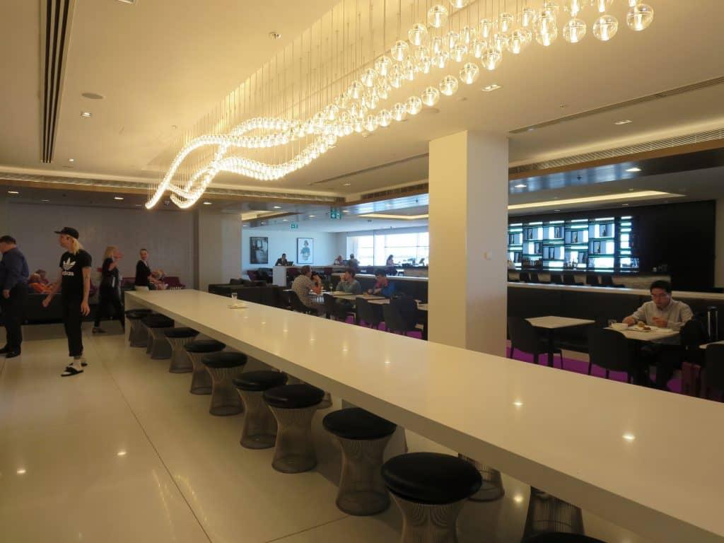 Air New Zealand Sydney International Lounge Buffetbereich