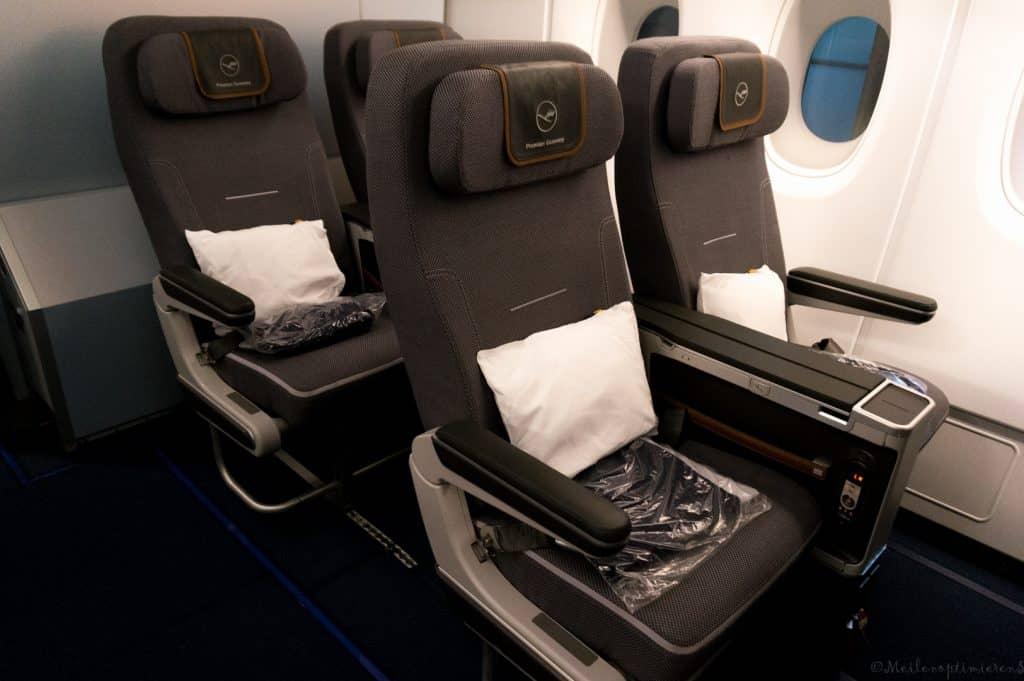Für Premium Economy Flüge mit Lufthansa gibt es im Asiana Club 100% der Entfernungsmeilen