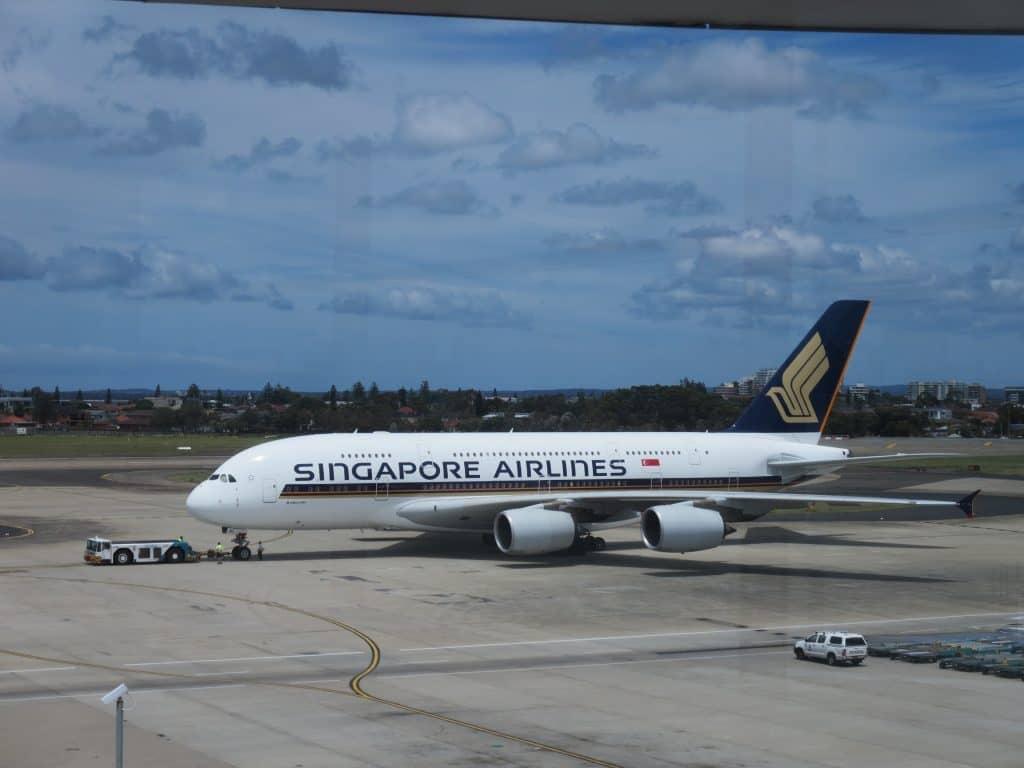 Singapore Airlines A380 am Flughafen Sydney