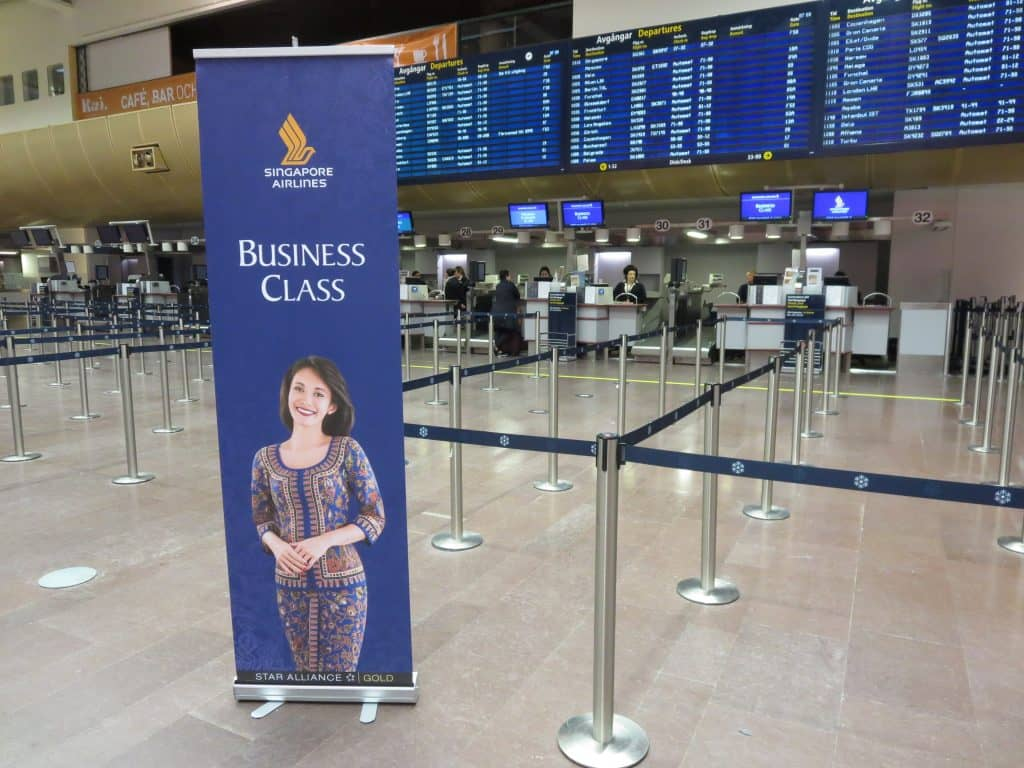 Singapore Airlines Business Class Checkin Stockholm Airport
