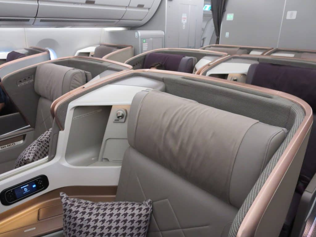 Singapore Airlines Business Class A350 Kabine