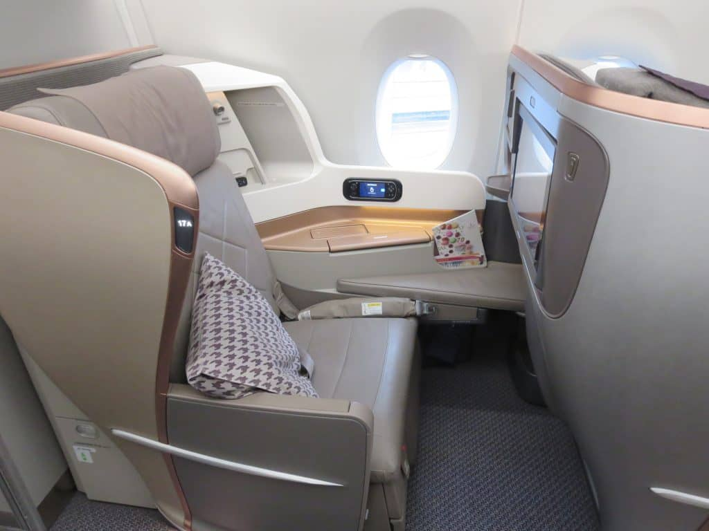 Die Business Class im A350 von Singapore Airlines