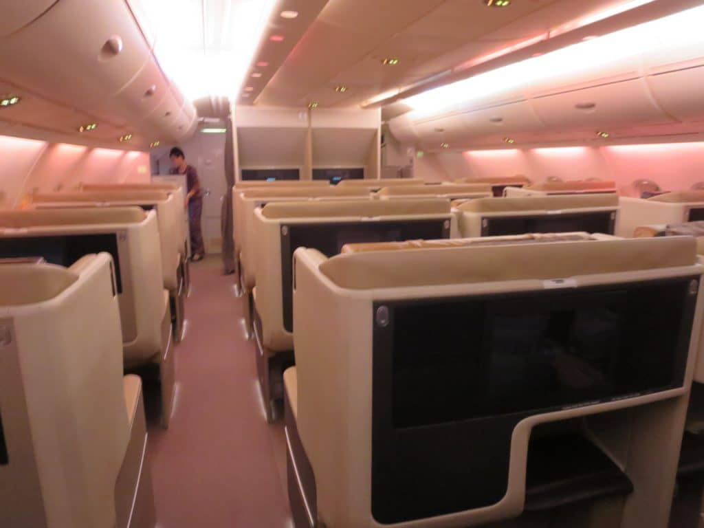 Singapore Airlines Business Class A380 Kabine