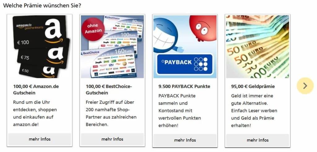 Nächster Part im Payback Punkte Wiki: Prämienauswahl bei der Deutschen Post