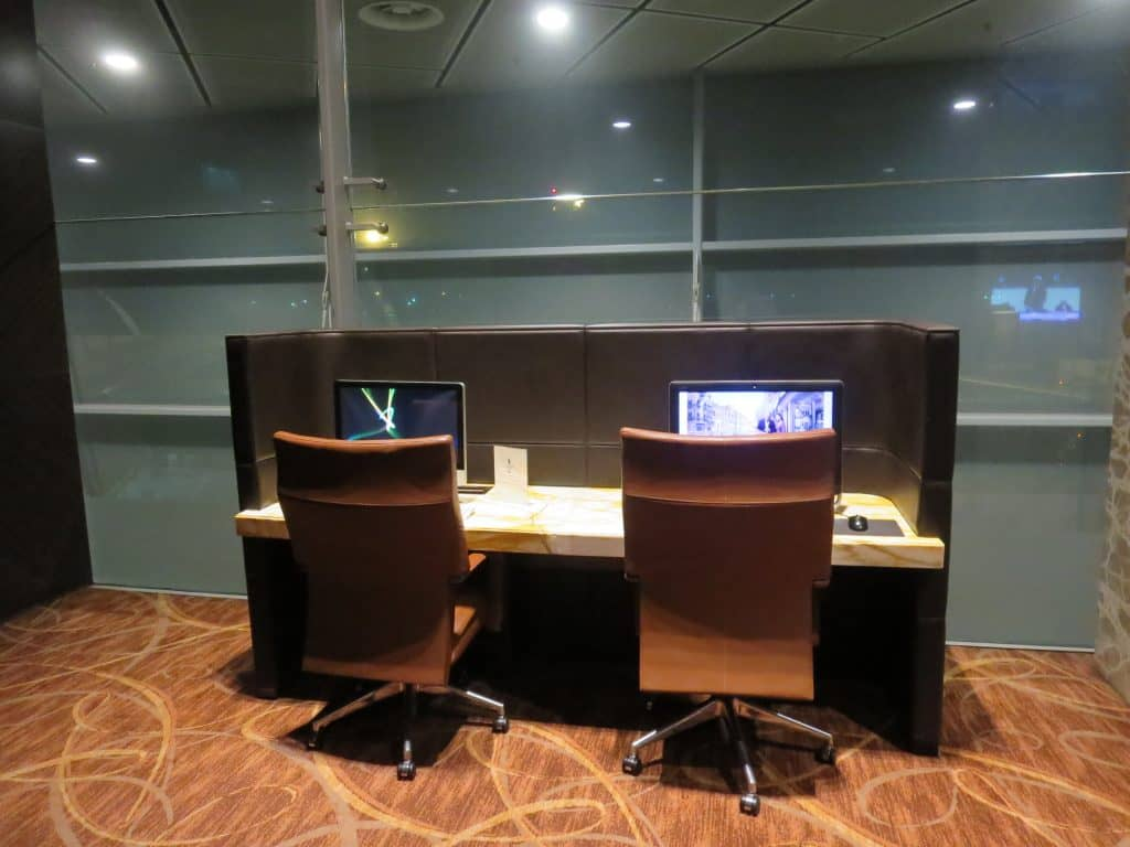 Singapore Airlines Private Room Arbeitsbereich