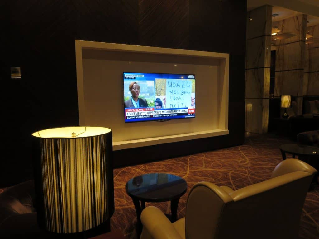 Singapore Airlines Private Room Fernseher
