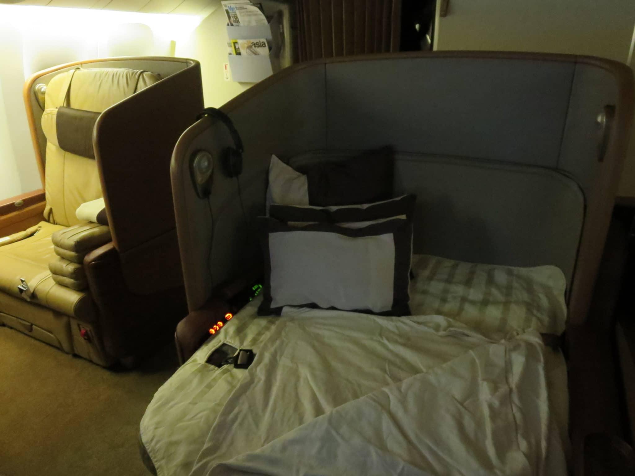 Singapore Airlines First Class Bett
