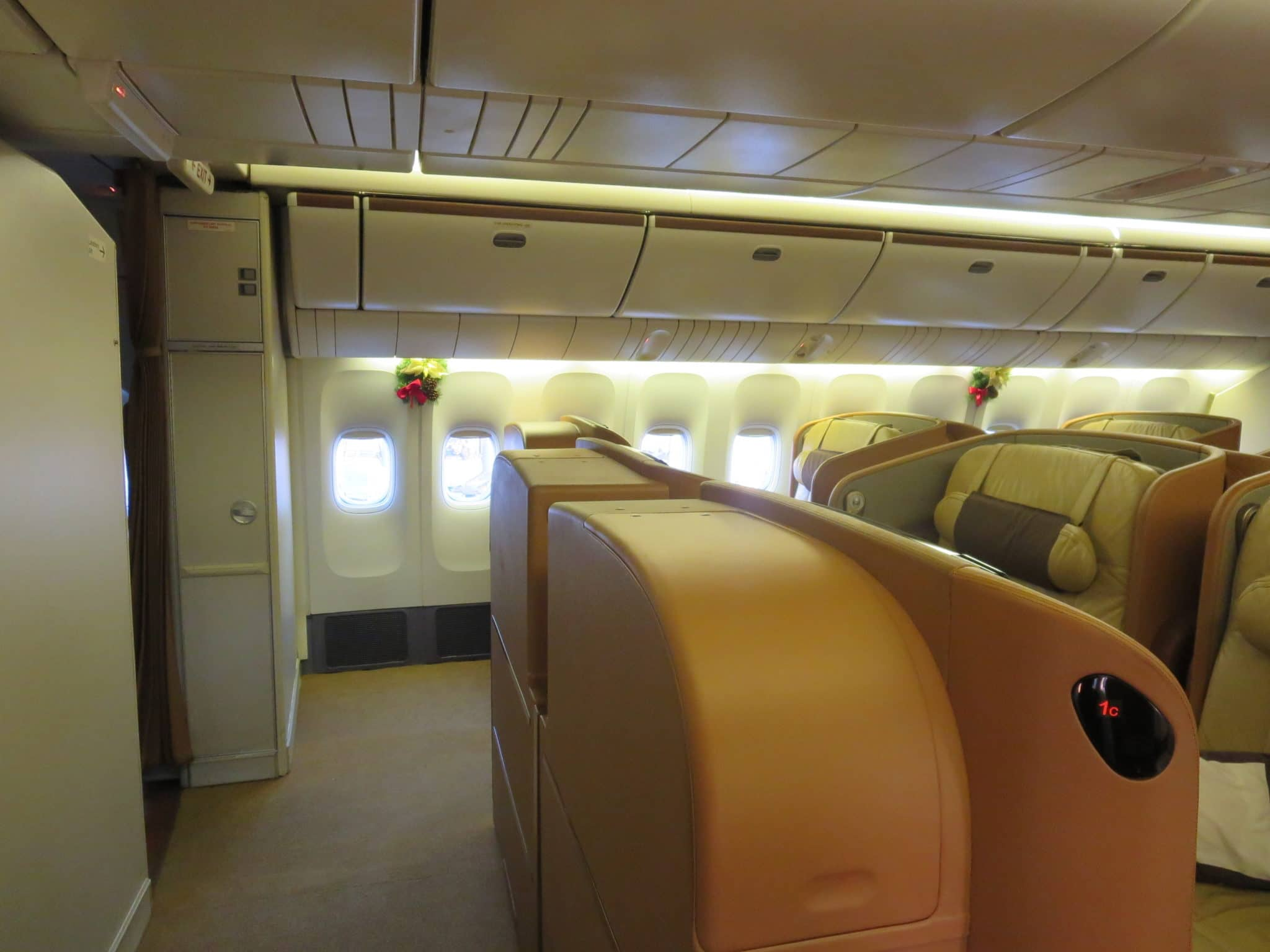Singapore Airlines First Class Kabine